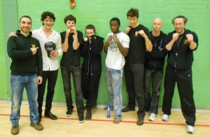 (L to R) Kostas, Charlie, Tim, Maeve, Ollie, Konstantin, Phil and Massimo