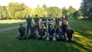 CARISMA training outdoors, Sunday training summer 2017